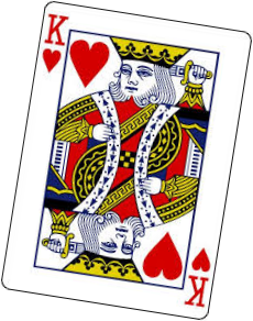 playing card king of hearts