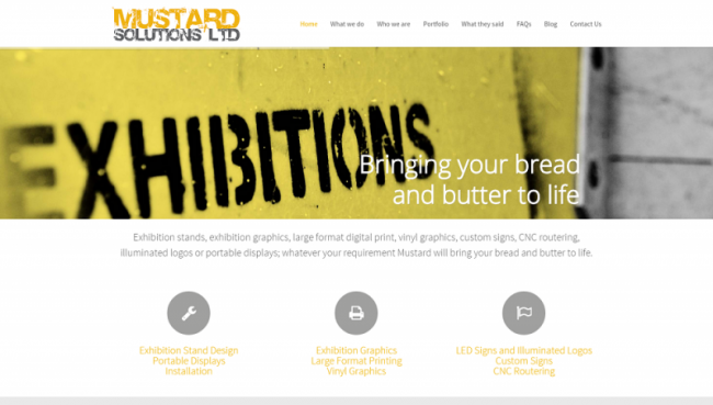 Mustard Solutions website